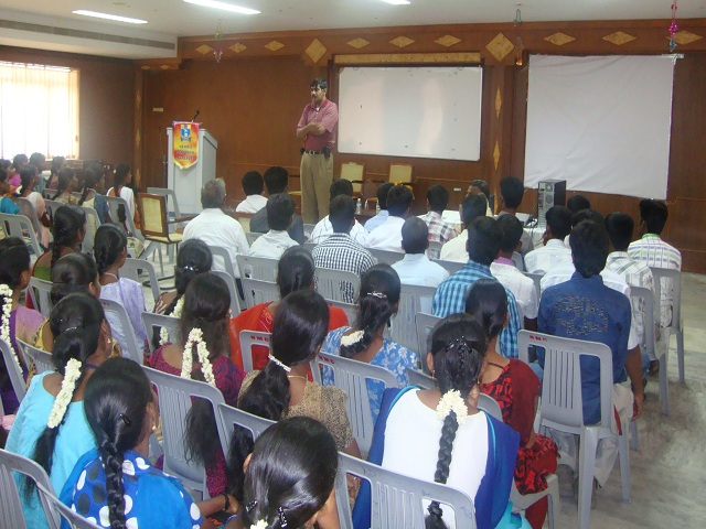 Mr. Parthiban Damoraswamy interacted with the students of the Nehru College